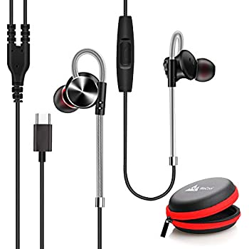 WeCool Mr.Bass W010 Metallic In Ear Type C Earphones with Mic for Rich Bass and Noise Cancellation , Unique Design Sports USB Type C Earphone compatible with One Plus 7/ 7 Pro / 6T with free carry case(Black)