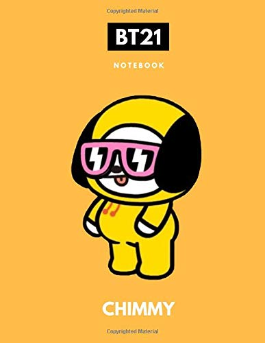 Bts Bt21 Chimmy Kpop Notebook: Back to School Wide Ruled Composition Journal for Students