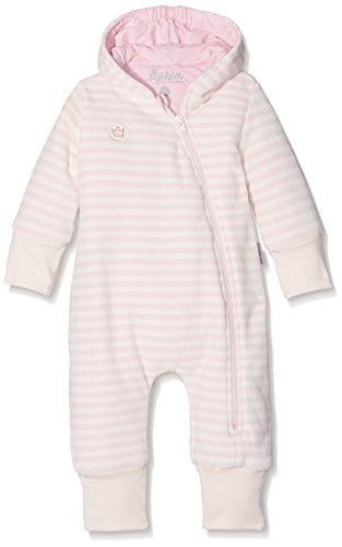 Sigikid Baby-Mädchen Strampler Nickioverall, New Born, Rosa (Barely Pink 666), 62 (Gestreiften Pink Pyjama)