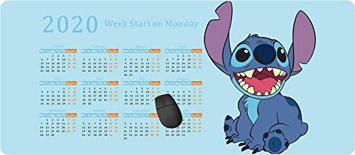 Großes Gaming-Mauspad (70 x 30 cm) Computer-Mauspad Gamepad Gaming Mauspad, Lilo und Stitch -Trends International 2020 Kalender -