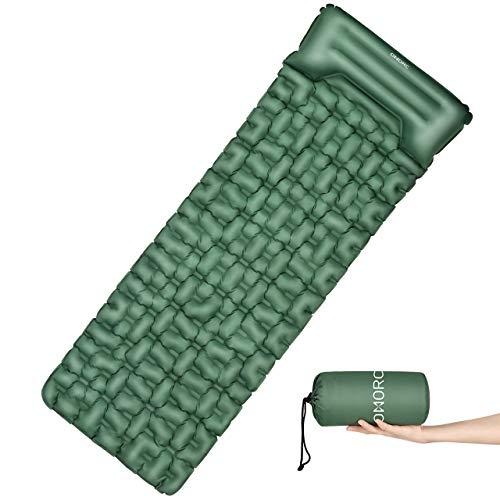 OMORC Esterilla Inflable Acampada, 199x70x7cm Colchoneta Impermeable con Almohada, Portátil para Senderismo Acampada Camping Excursión, Esterilla Inflable Dormir al Aire Libre,Esterilla Ultra Ligera