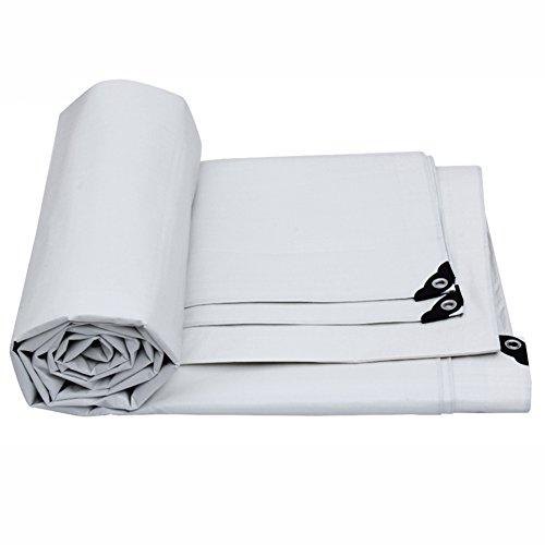Copridivano reversibile impermeabile per tenda da terra con grande copertura in tela cerata bianca in varie dimensioni, 175 g/m² (dimensioni : 15 m*10 m)