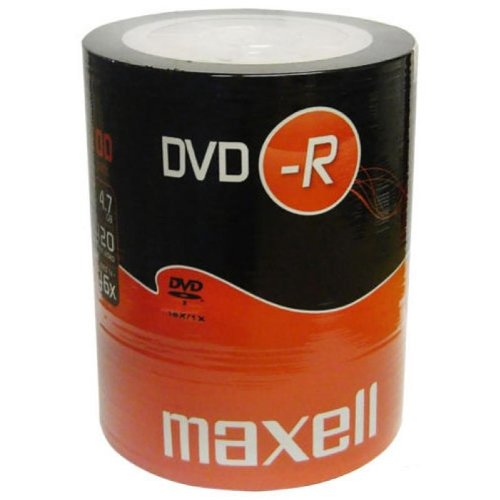 Maxell dvd-r 16x 4.7gb 120min discs (pack of 100) by maxell