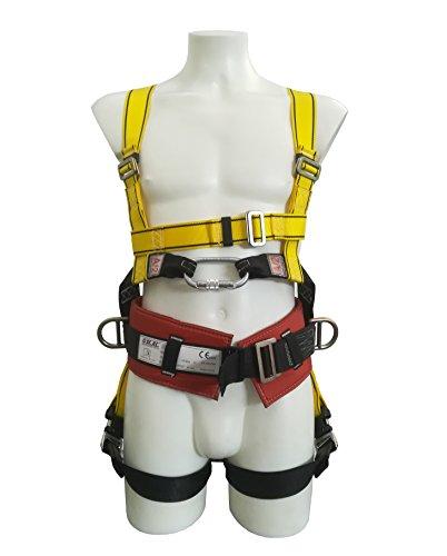 Imbracatura anticaduta con aggancio dorsale, sternale e cintura di posizionamento. Spallacci regolabili. Agganci dorsali rapidi. Cintura separata. Conforme EN 361-EN 358