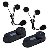 Boblov TCOM-SC W/Screen Bluetooth Motorcycle Motorrad Sturzhelm 800M Intercom Headset (TCOM*2)
