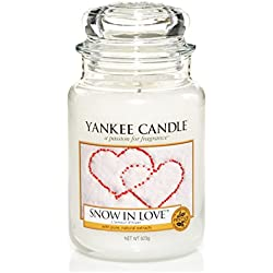 Yankee Candle Classic Housewarmer Gross, Snow In Love, Duftkerze, Raum Duft im Glas / Jar, 1249712E
