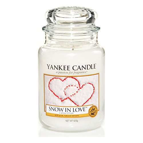 Yankee Candle Glaskerze, groß, Snow in Love