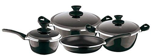 Magefesa Fit Cookware Set, 4Pieces 3Lids cm Black