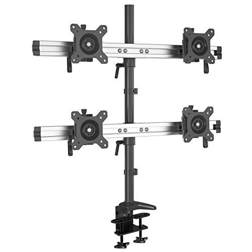 HFTEK 4-Fach-Monitorarm - Tischhalterung für 4 Bildschirme von 15 - 27 Zoll mit VESA 75/100 (MP240C-L)