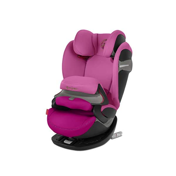 CYBEX Gold Pallas S-Fix 2-in-1 Child's Car Seat, For Cars with and without ISOFIX, Group 1/2/3 (9-36 kg), From approx. 9 Months to approx. 12 Years, Fancy Pink Cybex Sturdy and high-quality child car seat for long-term use - For children aged approx. 9 months to approx. 12 years (9-36 kg), Suitable for cars with and without ISOFIX Maximum safety - Depth-adjustable impact shield, 3-way adjustable reclining headrest, Built-in side impact protection (L.S.P. System), Energy-absorbing shell 12-way height-adjustable comfort headrest, One-hand adjustable reclining position, Easy conversion to Solution S-Fix car seat for children 3 years and older (group 2/3) by removing impact shield and base 1
