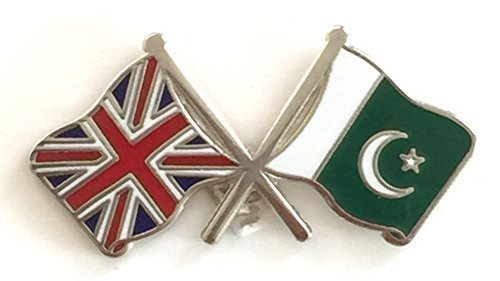 UNION JACK & PAKISTAN AMICIZIA, BANDIERE NAZIONALI LAPEL PIN BADGE