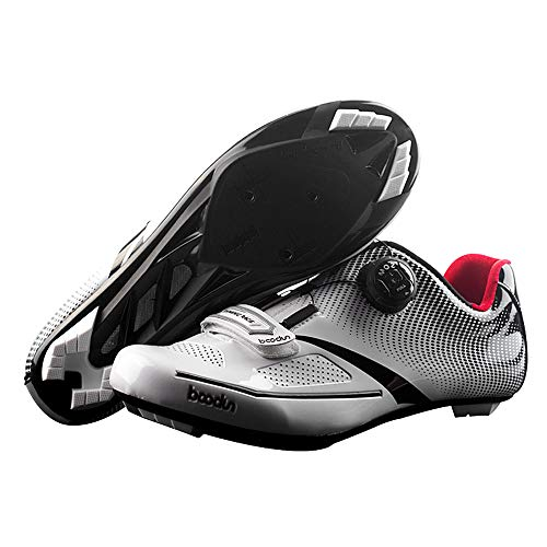 Lixada Scarpe da Ciclismo TPU di Nylon Ultraleggero, Scarpe da Equitazione da Bici da Corsa Traspirante per Uomo Dimensione: 41-44
