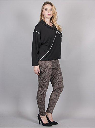 Vêtement Femme Grande Taille Tunique Zip Noir Multicolore