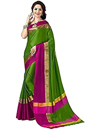 Mrinalika Fashion Women's Art Silk Saree With Blouse Piece (Sarees For Women's Below 400 2Aura2006_2_Green)