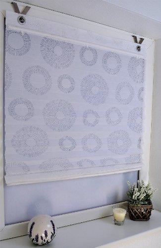 Raffrollo / Ösenrollo Circular / weiss, ca. 60 x 140 cm) (Kreis Plissee)