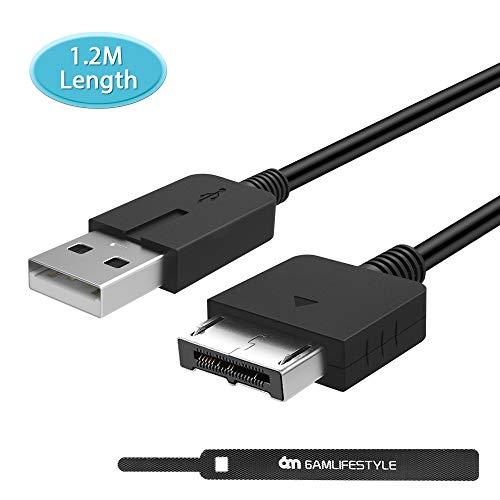 PS Vita Ladekabel, 6amLifestyle 1,2 M PS Vita-USB-Stromkabel 2-in-1-Kabel zum Aufladen und Synchronisieren von Daten für Sony PlayStation Vita, PSVita 1000