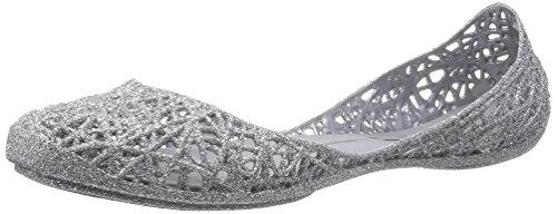MINI MELISSA -Ballerina argentata in plastica MELFLEX, gomma profumata,elegante scarpa grigia, Bambina, Donna-37