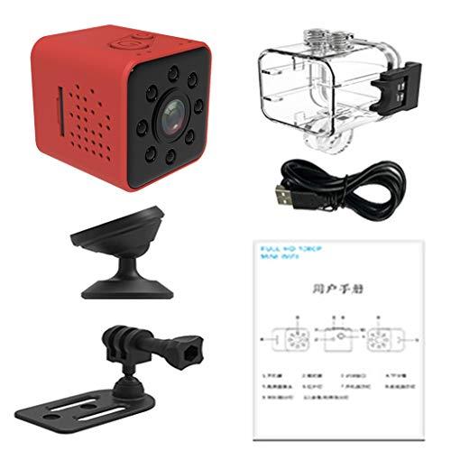 H HILABEE Infrarot-Auto-DVR-Kamera Dashcam DVR Recorder Videokamera mit 155° Ultra-Weitwinkelobjektiv - rot