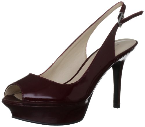 41JLeRAy1eL Nine West Womens Justsmile Patent Rogue Open Toe 3567250309 7 UK