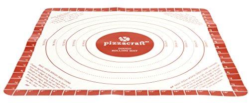 Pizzacraft PC0408 Tapis à rouler la pâte en silicone Rouge 3,3 x 17,78 x 54,36 cm