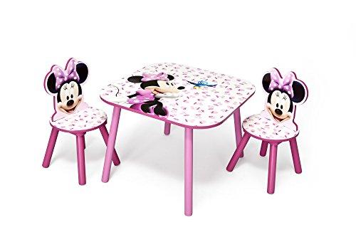 Und Minnie-möbel Mickey (Minnie Mouse Kleiner Tisch und Stühle (Rosa))