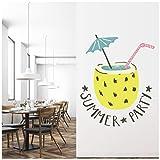 azutura Festa Estiva Bevanda Cocktail Adesivo Murale Disponibile in 8 Misure Extra-Small Digitale