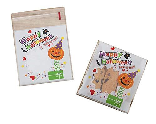 Black Temptation Pack von 100 schönen Süßigkeiten Papers Halloween Cookie Taschen, M7