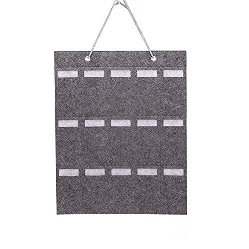 CutogainSonnenbrille-Speicher-Hängen-Beutel 15 Slots Filz Tuch Multifunktions-Organizer für Wand