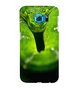 For Samsung Galaxy S6 Edge :: Samsung Galaxy S6 Edge G925 :: Samsung Galaxy S6 Edge G925I G9250 G925A G925F G925Fq G925K G925L G925S G925T Snake, Green, Beautiful pattern, Amazing Pattern, Printed Designer Back Case Cover By CHAPLOOS