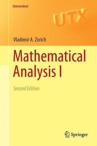 Mathematical Analysis I: 1 (Universitext) por Vladimir A. Zorich