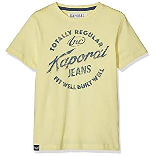 Kaporal Boy's Azar T-Shirt Yellow Sunny, 8 Years