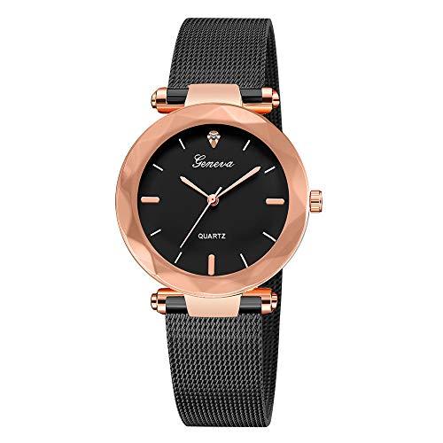 Neuer Trend  2019 Armbanduhr Damen Uhren, Frauen Classic Edelstahl Analog Quarz Uhren mit Mesh Wrist Watch Ultradünne Geschenk LEEDY