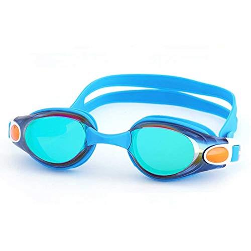 LJALJJ Schwimmbrille Erwachsene und Kinder Größen Kein Auslaufen Anti-Fog UV-Schutz Kristallklare Sicht mit Schutzhülle - Komfortable Passform Männer Frauen Jugend (Color : Blue)