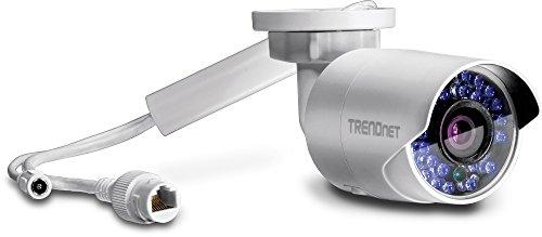 TRENDnet Innen/Außen 1.3 MP HD WiFi IR Stift Kamera, IR Nachtsicht bis zu 30m (98 Fuß), Aufzeichnung nach Bewegungsmeldung, Erweitertes Abspielen, IP66 Gehäuse, Android iOS App, ONVIF, TV-IP322WI (Web-browsern)