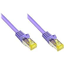 Alcasa RJ45-RJ45, m-m, 30m - Cable de red (m-m, 30m, RJ-45, RJ-45, Macho/Macho, Oro, 10GBase-T, Cat7)