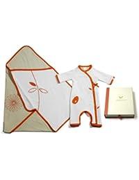 Pandi Panda Baby Girls' Outfit Orange Mandarin Orange 6 to 12 Months