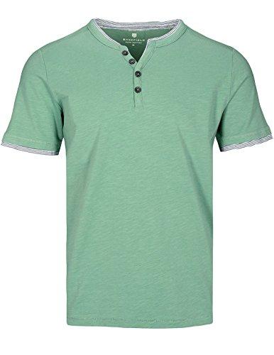 Basefield Herren Henley Shirt Kurzarm - Dusty Navy (219011657) 503 DUSTY LAGOON