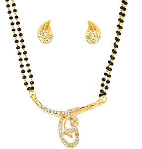 Touchstone with Austrian Diamond Mangalsutra set for Women - FGNSL084-01A--Y