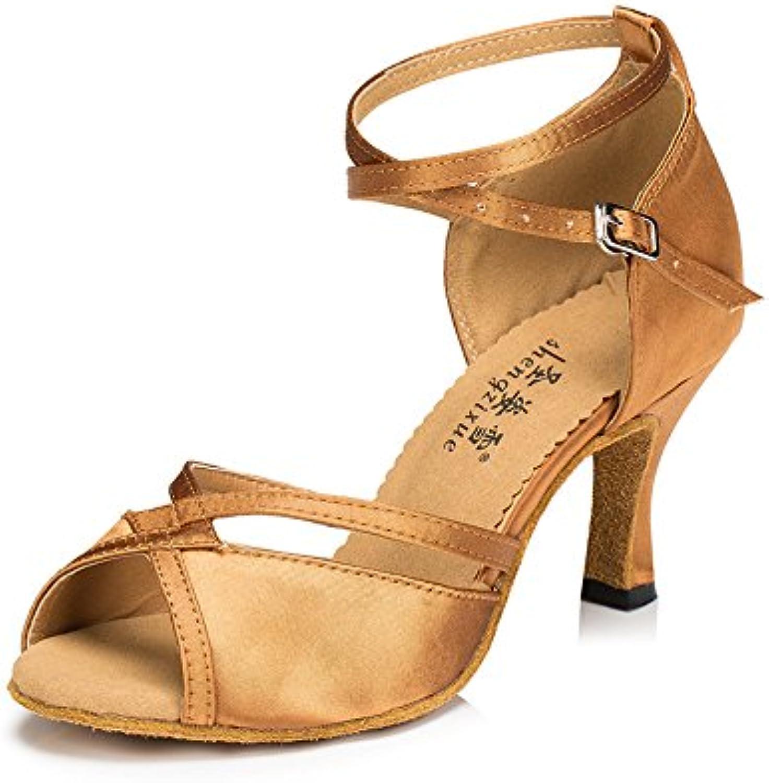 Women's Ballroom Latin Schokolade Schuhe 2018 Letztes Modell  Mode Schuhe Billig Online-Verkauf