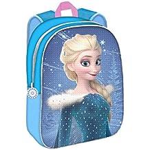 Mochila Disney Frozen Elsa y Ana con Dos Imágenes Lentejuelas Reversibles 30 cm.