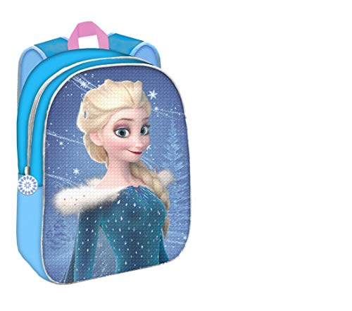 Mochila Disney Frozen Elsa Ana Dos Imágenes Lentejuelas
