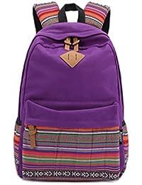 Mochila de lona para Mujer Casual Mochilas Escolares Backpacks