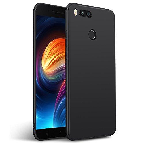 Olliwon Cover Xiaomi Mi A1, Ultra Sottile Anti Graffio Case Anti Impronte Protettiva e Leggera Cover per Xiaomi Mi A1, Xiaomi Mi A1 Custodia - Nero