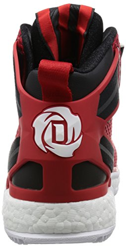 adidas Herren D Rose 6 Boost Baseballschuhe Rot (Ftwr White/Scarlet/Core Black)