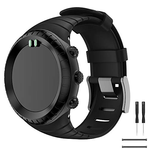 Watch Armband für Suunto Core,Yayuu TPU Sportarmband Uhr Band Strap Erstatzband Uhrenarmband für Suunto Core Samrtwatch, Armbandlänge 140mm-230mm