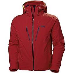 Helly Hansen Lightning Aislado Chaqueta de Esquí, Hombre, Alert Red, S