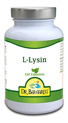 L-Lysin – 120 Tabletten je 1000mg – Amino Essential – Dr. Bawareg