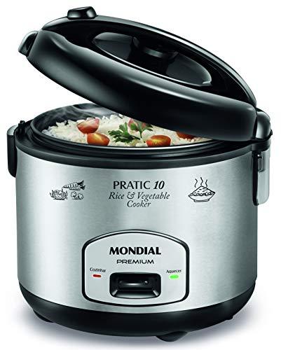 Mondial PE01 Maquina de Cocina, 700 W, 1.8 litros, Plata y Negro