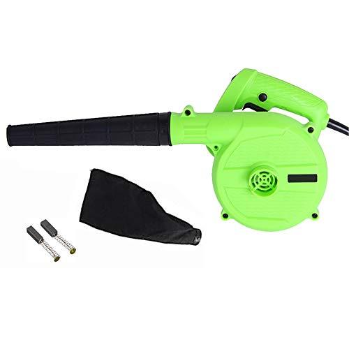 Souffleur jardin - 850 Watts 2 en 1 souffleur électrique pour feuilles & Aspirateurs électriques, souffleur feuille jardin avec 16000RPM et 6 vitesses variables (Vert)