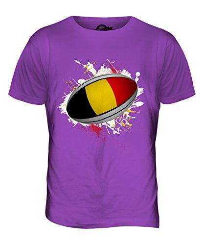 CandyMix Belgien Rugby Ball Herren T Shirt Violett